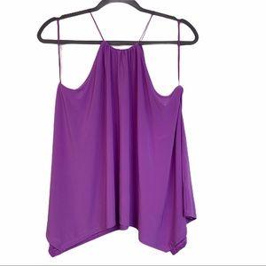 Express Asymmetrical Purple Halter Top